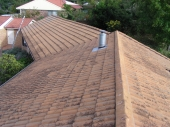 Cement Roof before cleaning